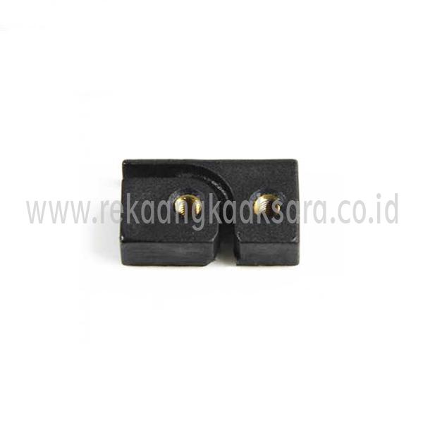 Domino gutter tube clamp block